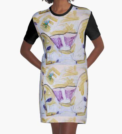 A New World Graphic T-Shirt Dress