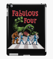 4 Superheroes Cross the Road iPad Case/Skin