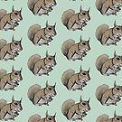 Squirrel pattern by Extreme-Fantasy