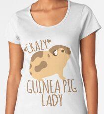 Crazy Guinea Pig Lady Women's Premium T-Shirt