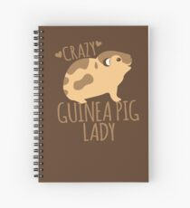 Crazy Guinea Pig Lady Spiral Notebook