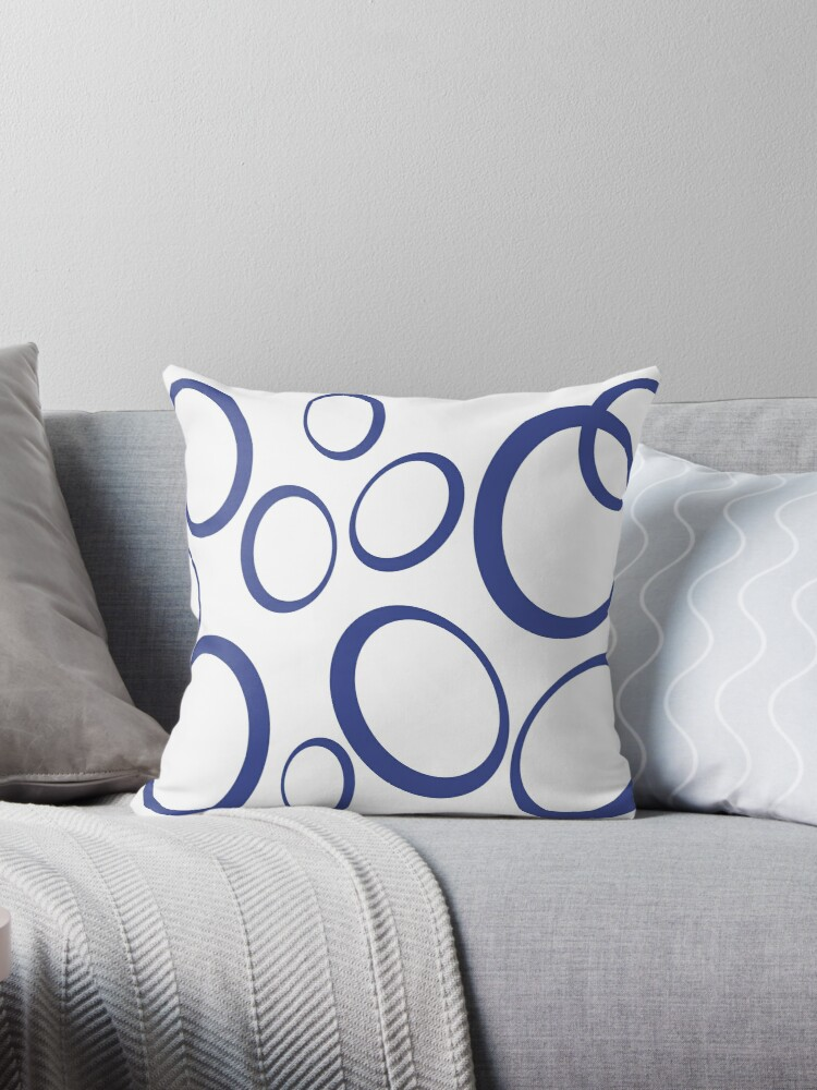 Oval pattern, blue on a transparent background by i3Design