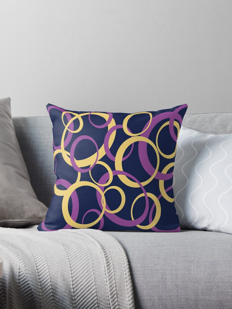Oval pattern, purple and yellow on a dark blue background by i3Design
