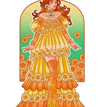 Fantasy Couture Daisy by fancifuldewdrop