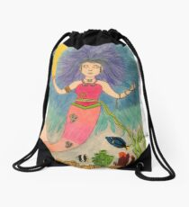 Mother of the Sea Drawstring Bag