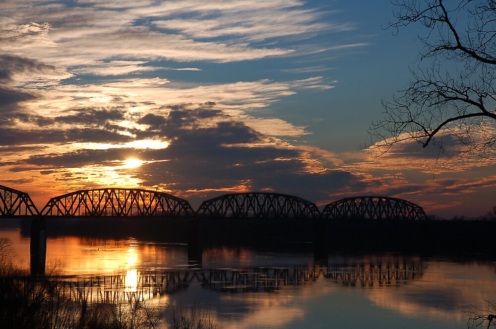 Sunset Bridge by kentuckyblueman
