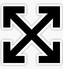 Pegatina De la cruz blanca