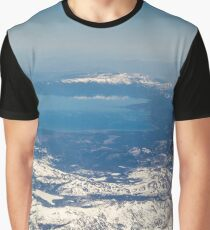 Abstract Landscape - Mountain, Clouds, and Water from the Air - Nature Geek Chic Graphic T-Shirt