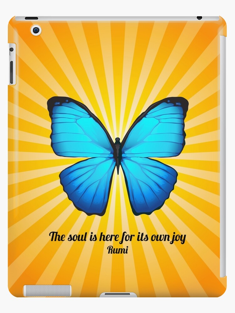 Joyful Butterfly With Quote By Rumi Ipad Cases Skins By Ginny
