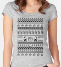 Super Mario Sweater  Women's Fitted Scoop T-Shirt