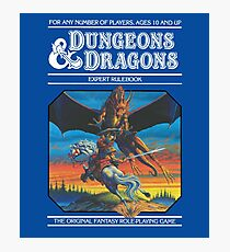 Dungeons and Dragons Expert Rule book (remastered) Photographic Print