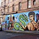Mural of Bruce Lee by DonnaMoore