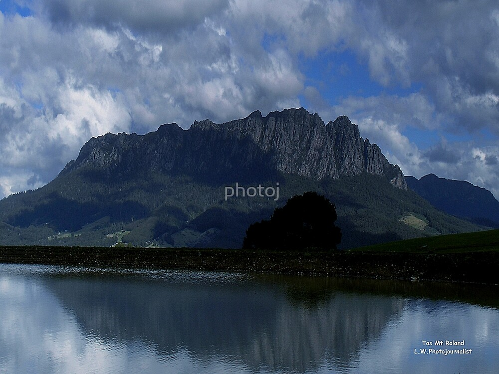 photoj Tas Mt Roland, 'Moody Reflection' by photoj