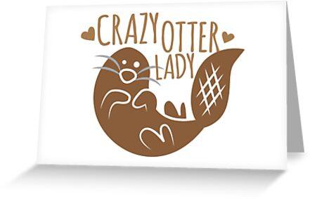 Verrückte Otter Dame von jazzydevil