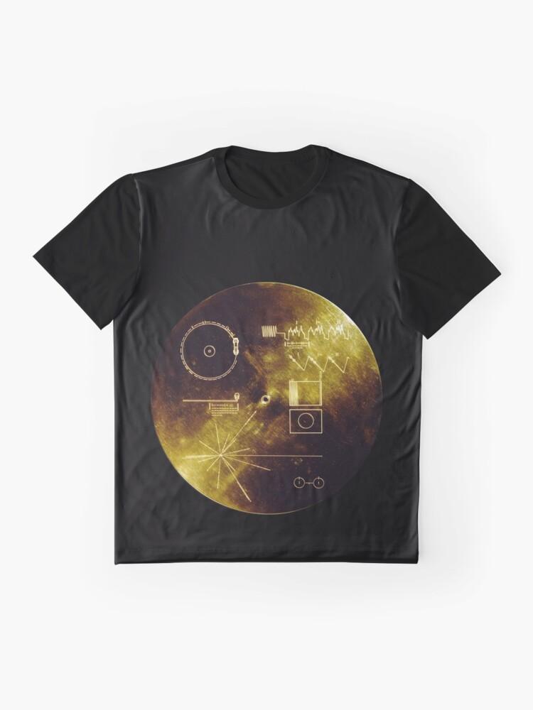 Alternative Ansicht von Voyager Goldene Schallplatte Grafik T-Shirt