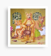 Goldilocks & the Three Bears - story book cover (w/c on c/pressed Illust bd) Metallbild