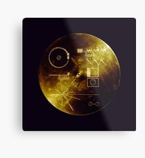 Voyager Golden Record Metal Print
