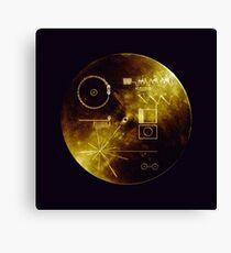 Voyager Goldene Schallplatte Leinwanddruck