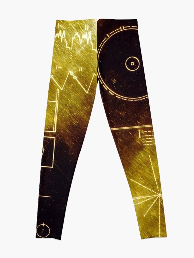 Alternative Ansicht von Voyager Goldene Schallplatte Leggings