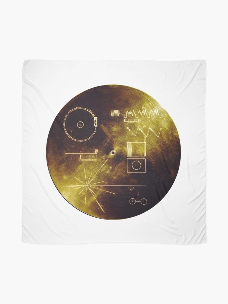 Alternative Ansicht von Voyager Goldene Schallplatte Tuch