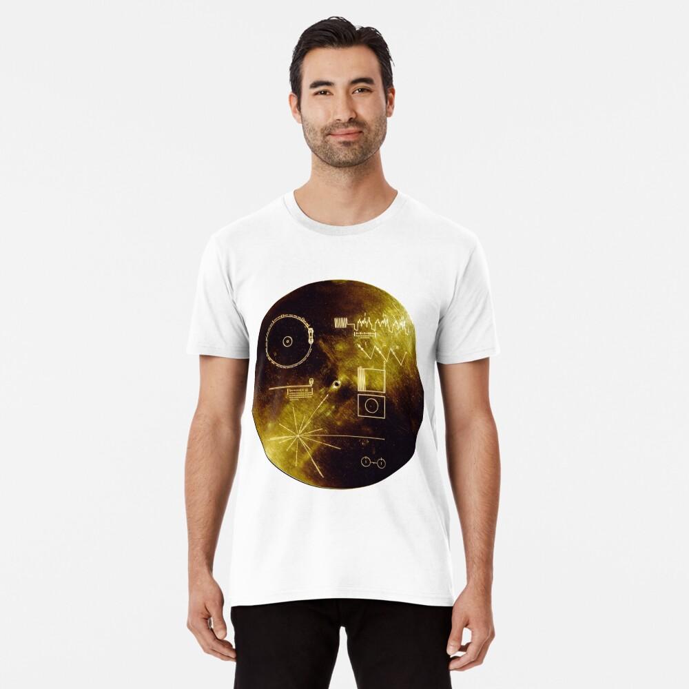 Voyager Goldene Schallplatte Premium T-Shirt
