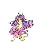 Purple Watercolor Unicorn by marquisdusoleil