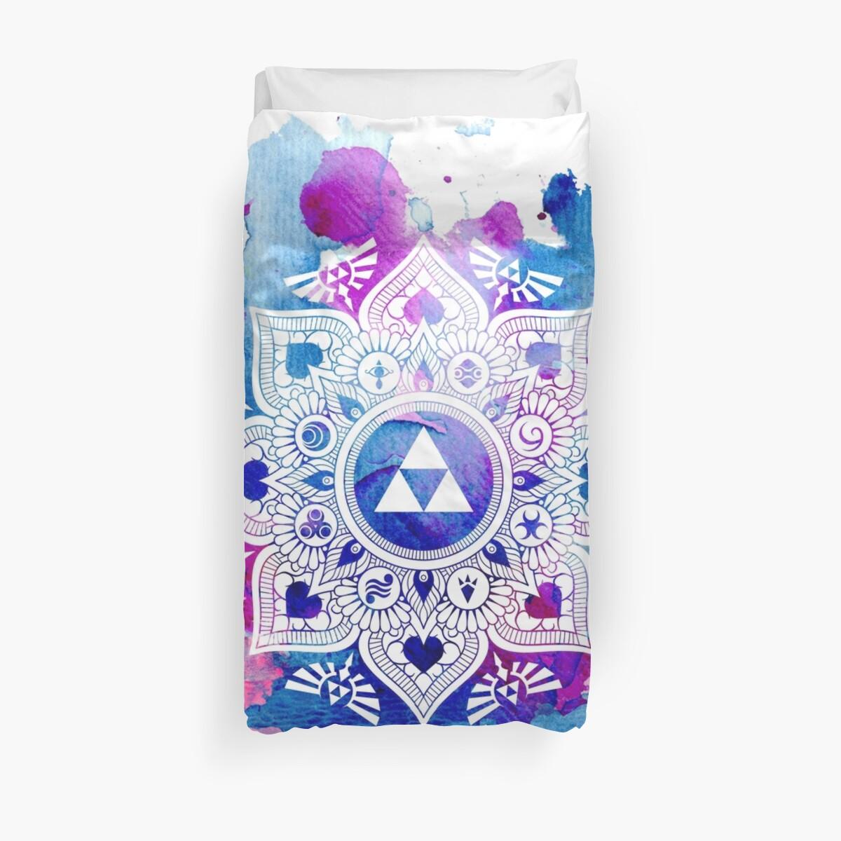 The Legend of a Zelda Mandala Duvet Cover