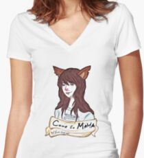 Come to MAMA Women's Fitted V-Neck T-Shirt