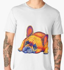 Colorful French Bulldog Rainbow Dog Pet Portrait Men's Premium T-Shirt