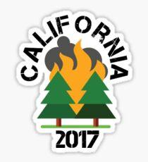 California Wildfire 2017 Sticker