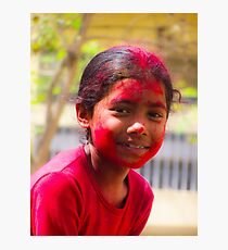 Holi Girl Photographic Print