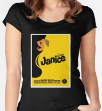 Janice Poster Women's Fitted Scoop T-Shirt