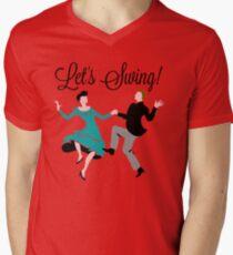 Let's Swing! Men's V-Neck T-Shirt
