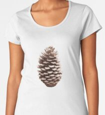 Natural Earthy Abstract Pinecone Design Women's Premium T-Shirt