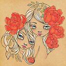 Hermia and Helena by LeaBarozzi