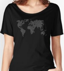 World Code World in binary Women's Relaxed Fit T-Shirt