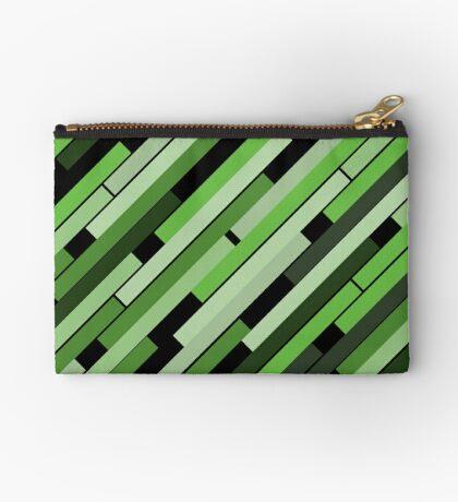 Linear Green - Bauhaus Inspired Studio Pouch