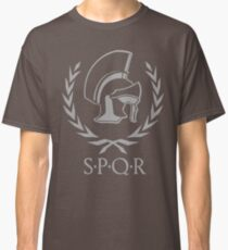 Laurel wreath and helmet SPQR Rome Classic T-Shirt