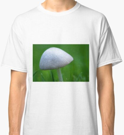 A Wee Little Mushroom Hiding in the Grass Classic T-Shirt