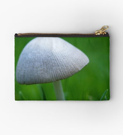 A Wee Little Mushroom Hiding in the Grass Studio Pouch