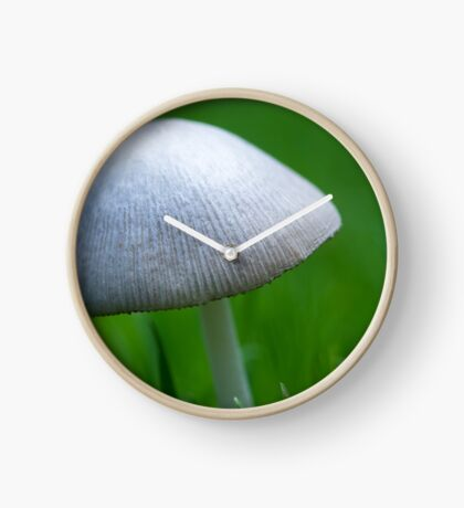 A Wee Little Mushroom Hiding in the Grass Clock