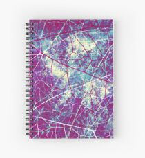 Purple Blue White Crackle Lacquer Grunge Texture Spiral Notebook