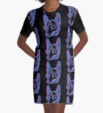 3D-Weltraumkojote T-Shirt Kleid