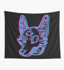 3D Space Coyote Wall Tapestry