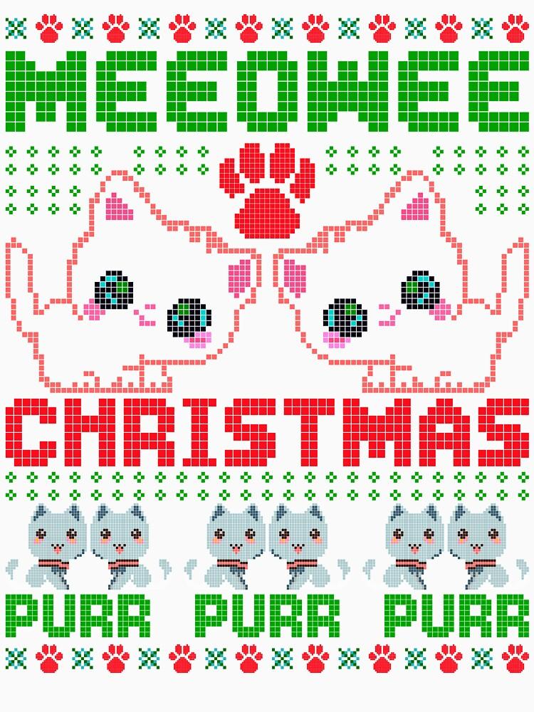 Meeowee Christmas Ugly Sweater Cute Xmas Party Prop by bestdesign4u