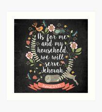 Joshua 24:15 Art Print