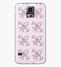 Fleur de Lis royal pink pattern Case/Skin for Samsung Galaxy