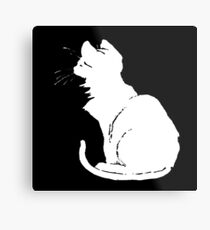 Life With White Cats Vector Metal Print