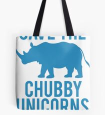 SAVE THE CHUBBY UNICORNS Tote Bag