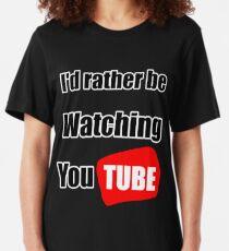 Camiseta ajustada Prefiero estar viendo YouTube
